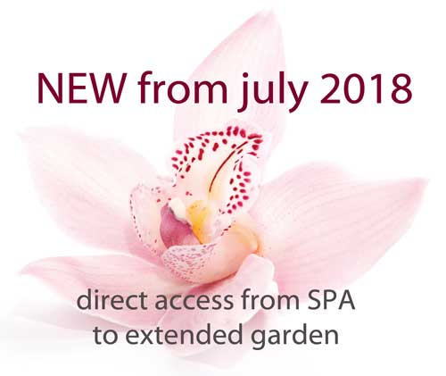 direct garden access from SPA